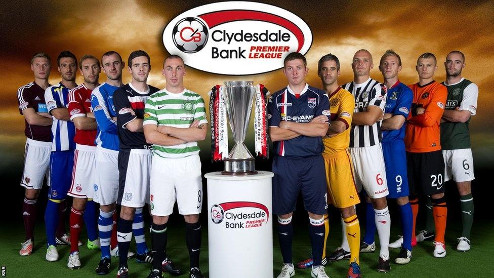 Scottish premier league standings premier league form table