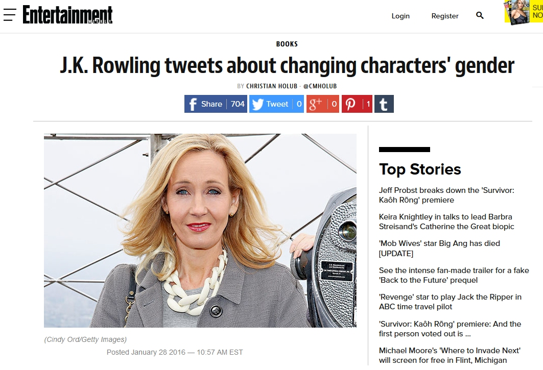 Do you think that fame and money had an effect on the quality of J.K. Rowling's writing?